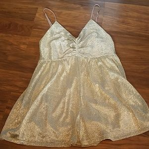 Urban outfitters shimmery romper